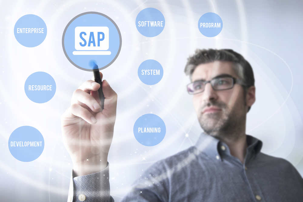 Man developing SAP architecture
